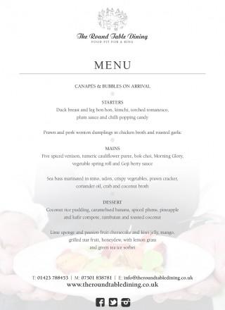 A5 Pop up asian flyer- menu